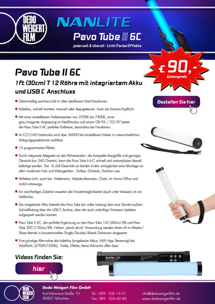 Nanlite PavoTube II 6C Flyer
