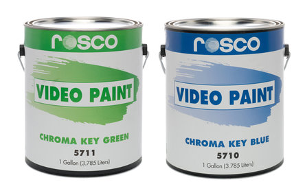 Rosco Chroma Key Paint Green and Blue